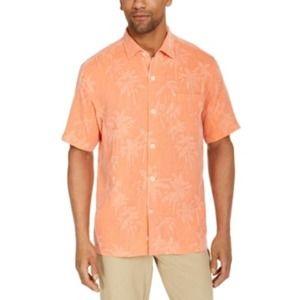 Tommy Bahama Palms Silk Short Sleeve Shirt XL